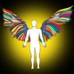 56971409 - ange arc en ciel